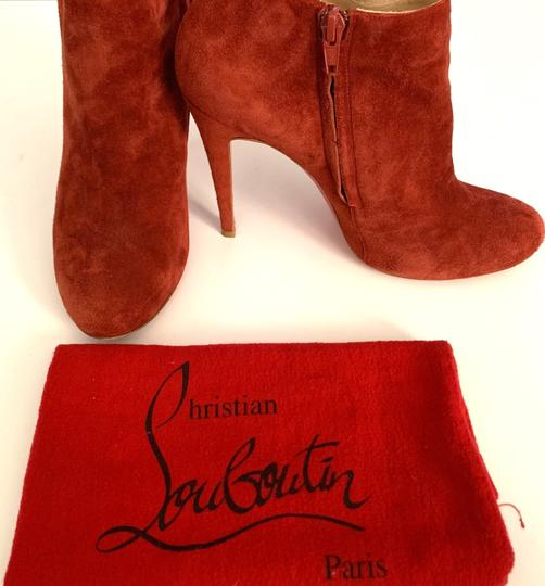 Christian Louboutin Suede Red Boots Image 3