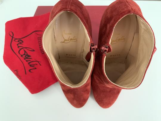 Christian Louboutin Suede Red Boots Image 5