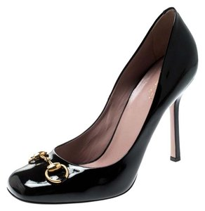 Gucci Patent Leather Leather Black Pumps