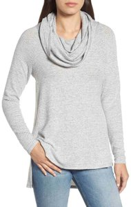 Gibson Convertible Neck Hacci Knit Cozy Tunic Nordstrom Style Sf4152wp Sweater