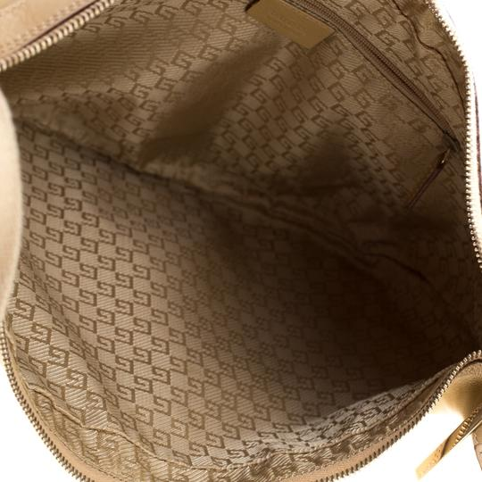 Gucci Leather Nylon Hobo Shoulder Bag Image 8