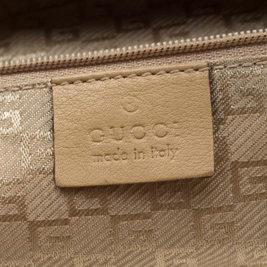 Gucci Leather Nylon Hobo Shoulder Bag Image 9