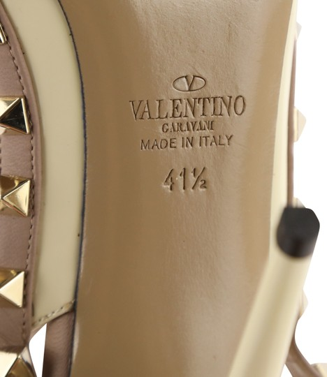 Valentino Patent Leather Leather Studded White Pumps Image 10