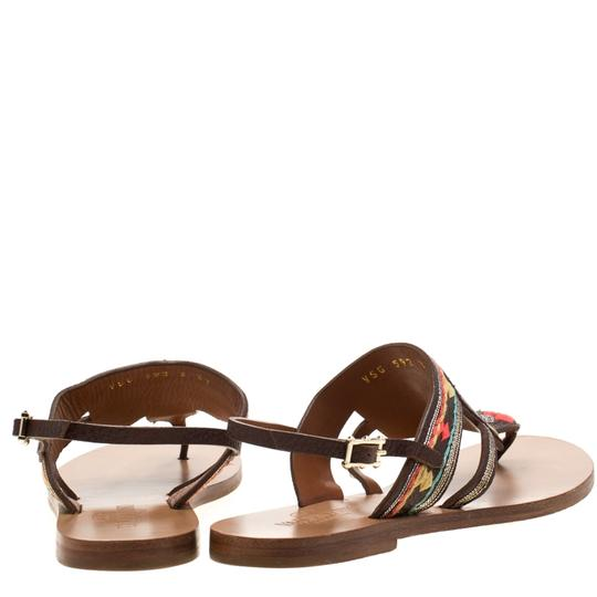 Valentino Leather Brown Flats Image 2