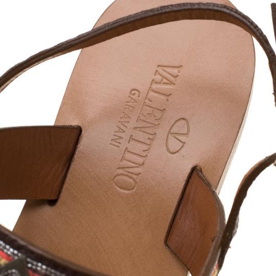 Valentino Leather Brown Flats Image 4