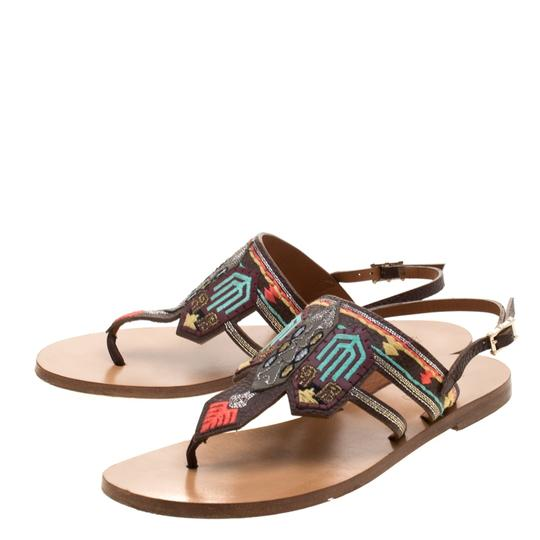 Valentino Leather Brown Flats Image 5