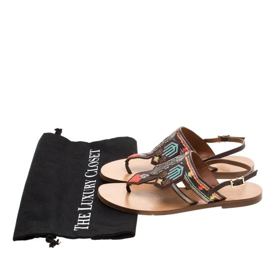 Valentino Leather Brown Flats Image 6