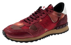 Valentino Suede Leather Red Athletic