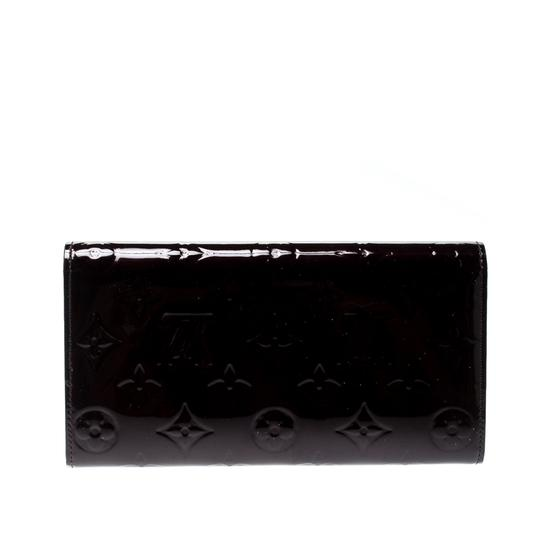 Louis Vuitton Louis Vuitton Amarante Monogram Vernis Sarah Continental Wallet Image 1