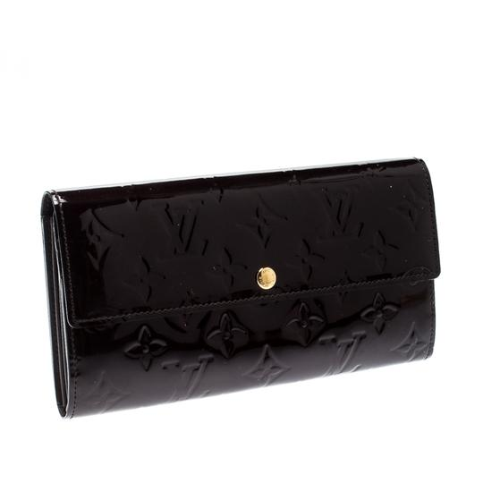 Louis Vuitton Louis Vuitton Amarante Monogram Vernis Sarah Continental Wallet Image 5