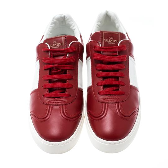 Valentino Leather Rubber Red Athletic Image 1