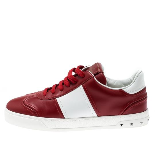 Valentino Leather Rubber Red Athletic Image 3