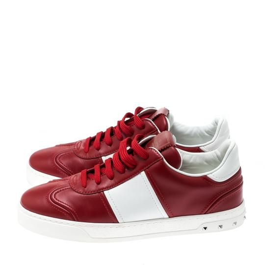 Valentino Leather Rubber Red Athletic Image 5