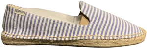 Soludos Espadrille Striped Summer White & Blue Flats