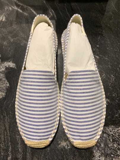 Soludos Espadrille Striped Summer White & Blue Flats Image 2
