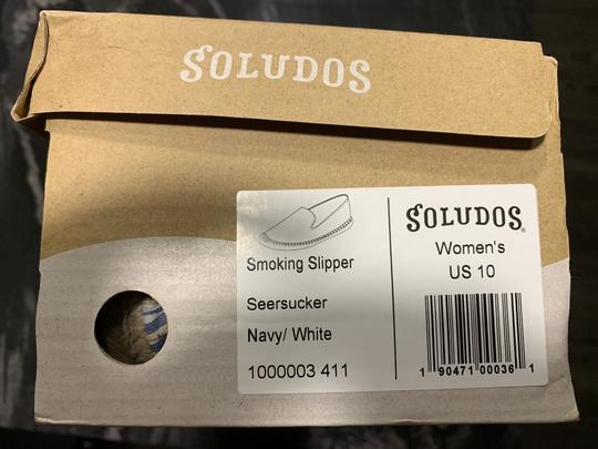 Soludos Espadrille Striped Summer White & Blue Flats Image 3