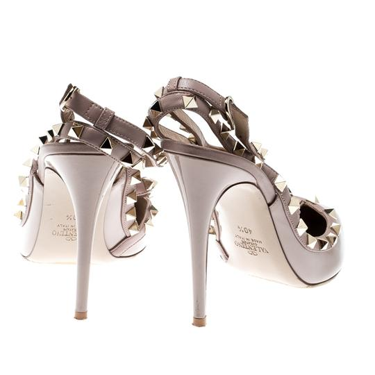 Valentino Patent Leather Ankle Strap Beige Sandals Image 2