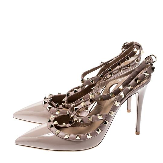 Valentino Patent Leather Ankle Strap Beige Sandals Image 4