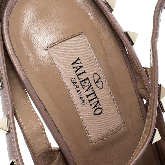 Valentino Patent Leather Ankle Strap Beige Sandals Image 5