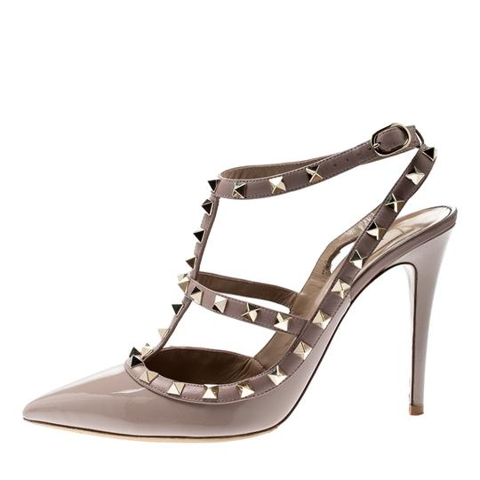 Valentino Patent Leather Ankle Strap Beige Sandals Image 6