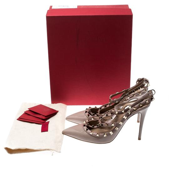 Valentino Patent Leather Ankle Strap Beige Sandals Image 7