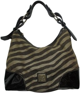 Dooney & Bourke Dooneybourke Patentleather Zebra Hobo Bag