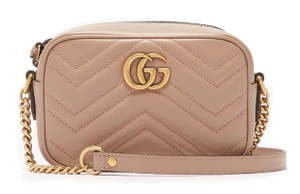 Gucci Gold Hardware Chevron Mini Cross Body Bag