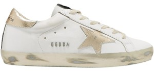 Golden Goose Deluxe Brand Ggdb Superstar Sneaker Gold and White Athletic