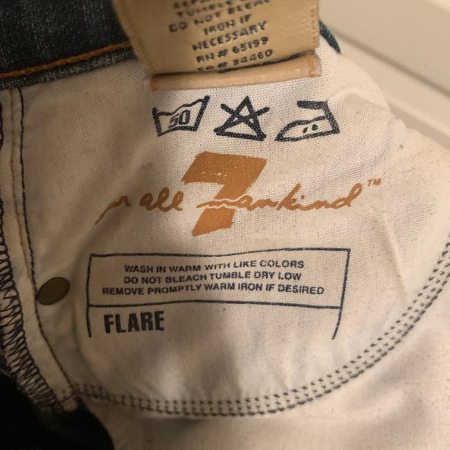 7 For All Mankind Flare Leg Jeans-Distressed Image 6