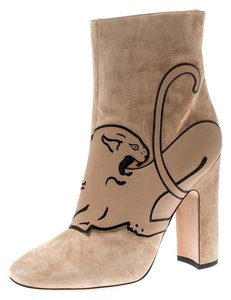 Valentino Suede Ankle Leather Beige Boots