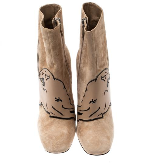 Valentino Suede Ankle Leather Beige Boots Image 1