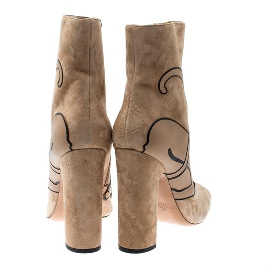 Valentino Suede Ankle Leather Beige Boots Image 2