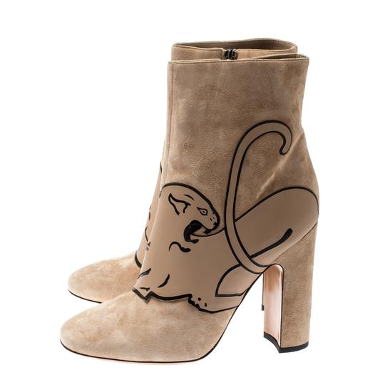 Valentino Suede Ankle Leather Beige Boots Image 4