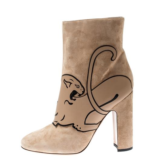 Valentino Suede Ankle Leather Beige Boots Image 6