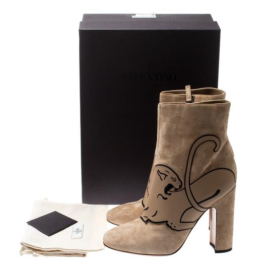 Valentino Suede Ankle Leather Beige Boots Image 7