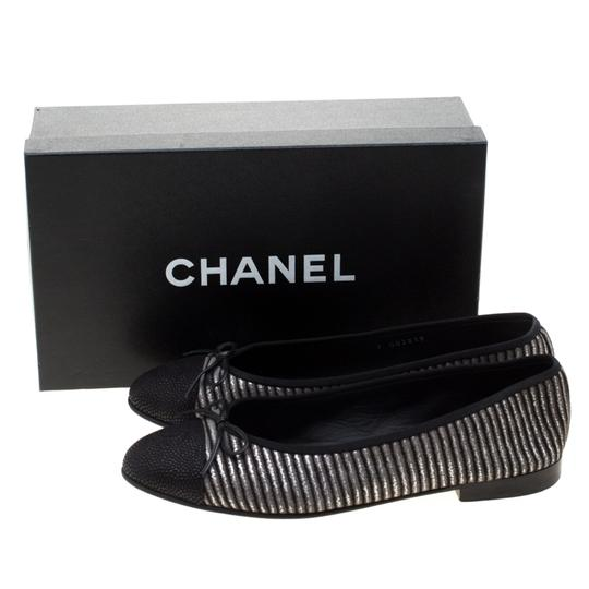 Chanel Leather Suede Black Flats Image 6