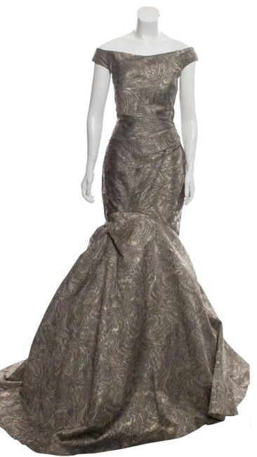 Item - Olive Green Sleeveless Glittery Gown M/Us8 Long Formal Dress Size 8 (M)