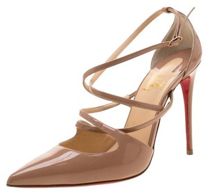 Christian Louboutin Patent Leather Beige Sandals
