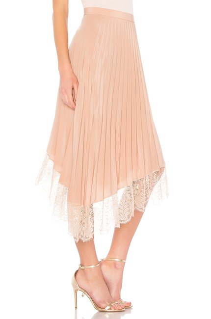A.L.C. Pleated Lace Trim Skirt Blush Image 2