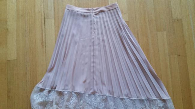 A.L.C. Pleated Lace Trim Skirt Blush Image 4