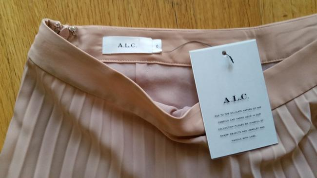 A.L.C. Pleated Lace Trim Skirt Blush Image 5