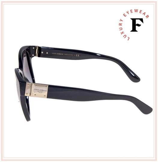 Dolce&Gabbana 4309 Black Gold Plaque Oversized Sunglasses DG4309S Authentic Image 1