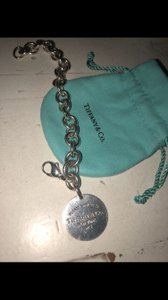Tiffany & Co. Tiffany and Co sterling silver circle charm bracelet 7.5 inches long