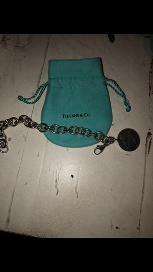 Tiffany & Co. Tiffany and Co sterling silver circle charm bracelet 7.5 inches long Image 1
