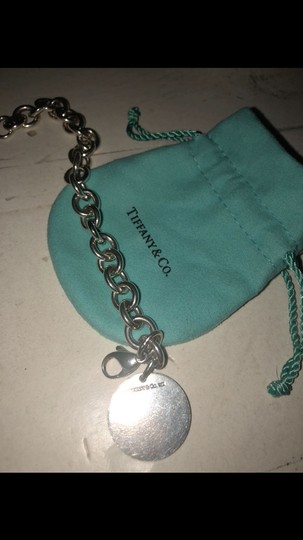 Tiffany & Co. Tiffany and Co sterling silver circle charm bracelet 7.5 inches long Image 2