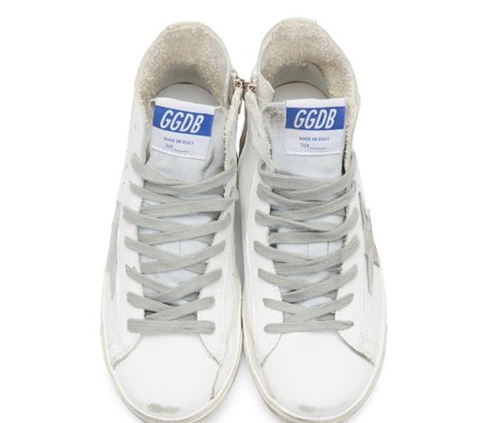 Golden Goose Deluxe Brand white&silver Athletic Image 3