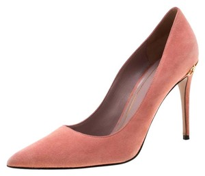 Gucci Suede Pointed Toe Leather Pink Pumps