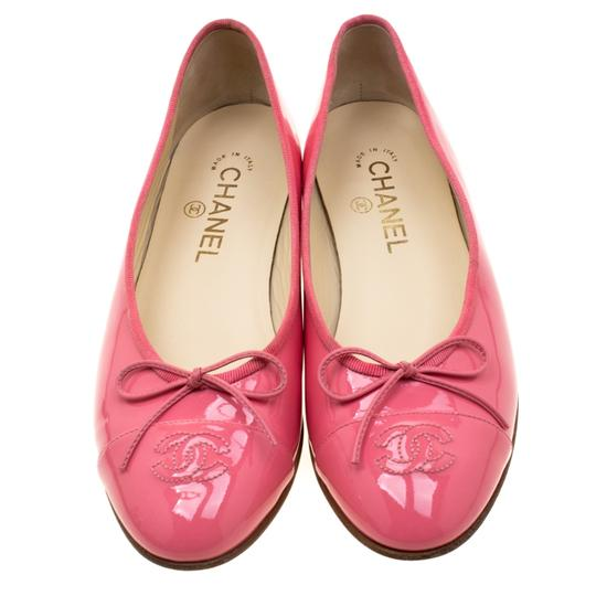 Chanel Patent Leather Ballet Leather Pink Flats Image 1