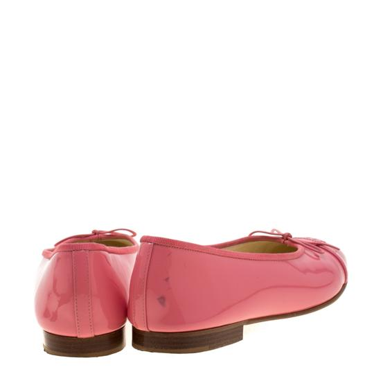 Chanel Patent Leather Ballet Leather Pink Flats Image 2