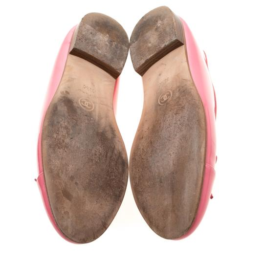 Chanel Patent Leather Ballet Leather Pink Flats Image 5